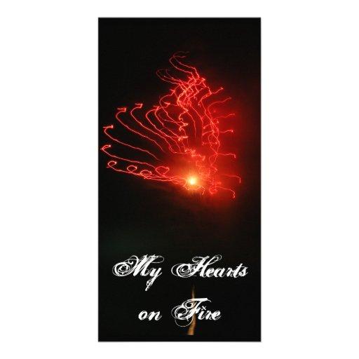 ...My Hearts on Fire Custom Photo Card