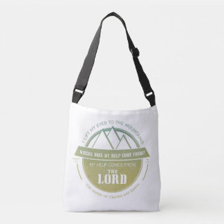 My help comes from the Lord, Green Logo Verse Tote Bag