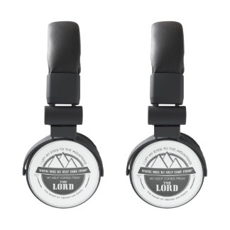 My help comes from the Lord, Mountain Logo Verse Headphones
