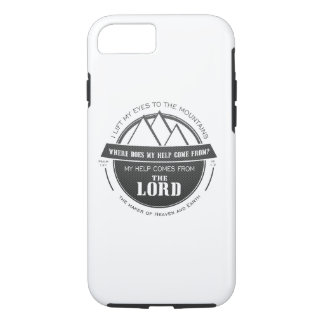My help comes from the Lord, Mountain Logo Verse iPhone 8/7 Case