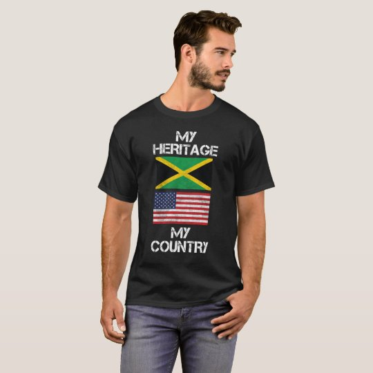 My Heritage My Country Jamaican American T-Shirt