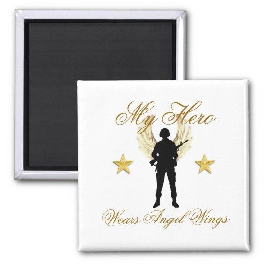 my hero, 1142, 1142, My Hero , Wears Angel Wings Magnet