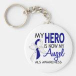 My Hero Is My Angel ALS Keychain