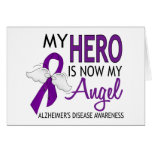 My Hero Is My Angel Alzheimer's Disease Card