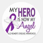 My Hero Is My Angel Alzheimer's Disease Round Stickers