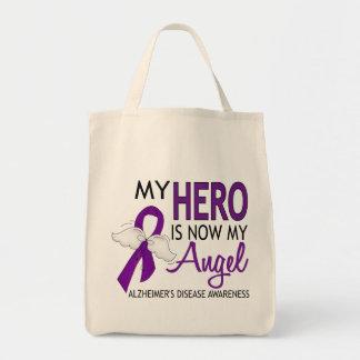 My Hero Is My Angel Alzheimer's Disease Tote Bags