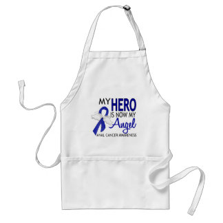 My Hero Is My Angel Anal Cancer Adult Apron