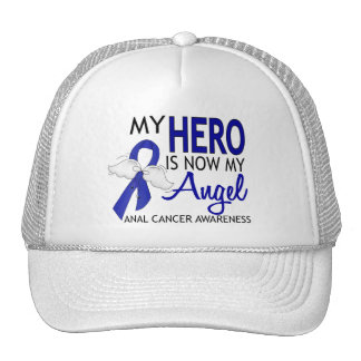 My Hero Is My Angel Anal Cancer Hats