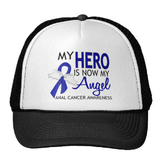 My Hero Is My Angel Anal Cancer Hat