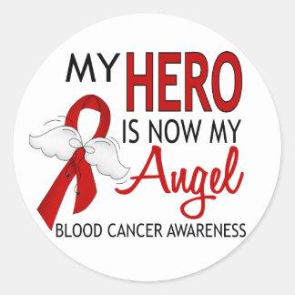 My Hero Is My Angel Blood Cancer Round Stickers