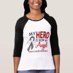 My Hero Is My Angel Brain Cancer T-shirts