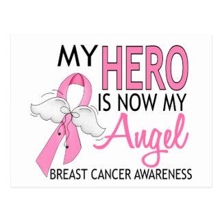 My Hero Is My Angel Breast Cancer Postcard