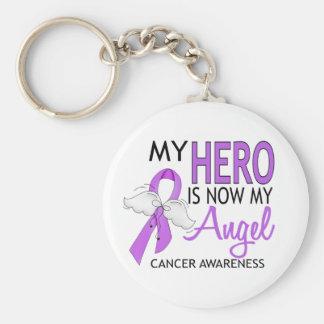 My Hero Is My Angel Cancer Key Ring