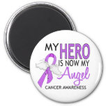 My Hero Is My Angel Cancer Magnets