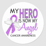 My Hero Is My Angel Cancer Stickers