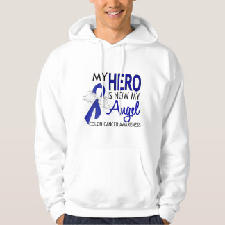 My Hero Is My Angel Colon Cancer Hooded Pullovers