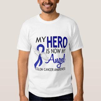 My Hero Is My Angel Colon Cancer Tee Shirts