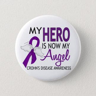 My Hero Is My Angel Crohn's Disease 6 Cm Round Badge