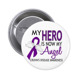 My Hero Is My Angel Crohn's Disease Buttons