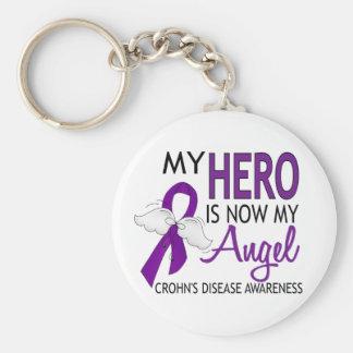 My Hero Is My Angel Crohn's Disease Key Ring
