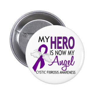 My Hero Is My Angel Cystic Fibrosis 6 Cm Round Badge