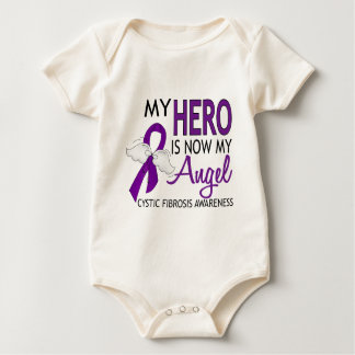 My Hero Is My Angel Cystic Fibrosis Baby Bodysuit