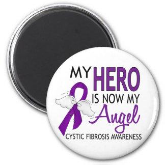 My Hero Is My Angel Cystic Fibrosis Fridge Magnet