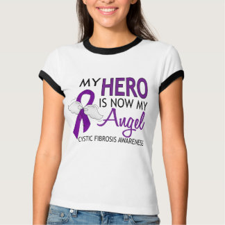My Hero Is My Angel Cystic Fibrosis T-Shirt