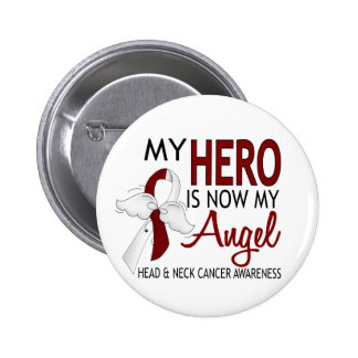 My Hero Is My Angel Head And Neck Cancer 6 Cm Round Badge
