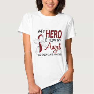 My Hero Is My Angel Head And Neck Cancer Tee Shirt