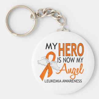 My Hero Is My Angel Leukemia Key Ring