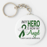 My Hero Is My Angel Liver Cancer Basic Round Button Key Ring