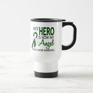 My Hero Is My Angel Liver Cancer Travel Mug