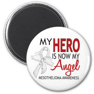 My Hero Is My Angel Mesothelioma 6 Cm Round Magnet