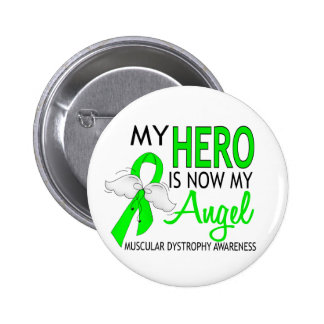 My Hero Is My Angel Muscular Dystrophy 6 Cm Round Badge