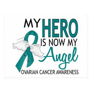 My Hero Is My Angel Ovarian Cancer Postcard