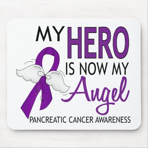 My Hero Is My Angel Pancreatic Cancer Mousepads