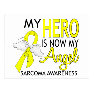 My Hero Is My Angel Sarcoma Postcard