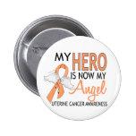 My Hero Is My Angel Uterine Cancer Badges