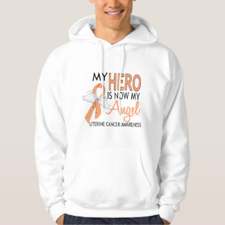 My Hero Is My Angel Uterine Cancer Sweatshirt