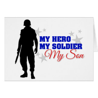 My Hero My Soldier My Son Greeting Cards