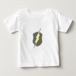 My Hero Police Badge with lightning bolt Baby T-Shirt