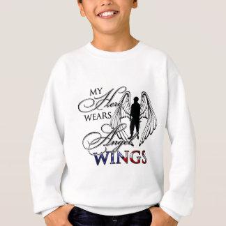 My Hero Wears Angel Wings Sweatshirt
