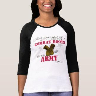 My Hero wears Combat Boots - Army Fiancee Shirts