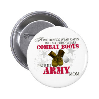 My Hero wears Combat Boots - Army Mom Pins