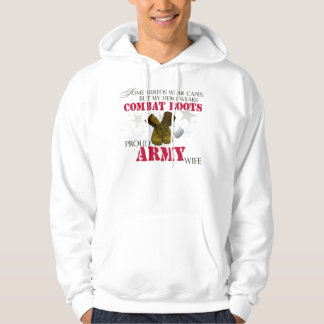 My Hero wears Combat Boots - Army Wife Hoodie