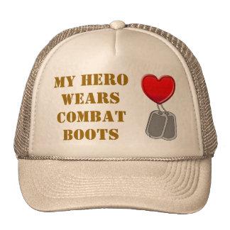 My Hero Wears Combat Boots Cap