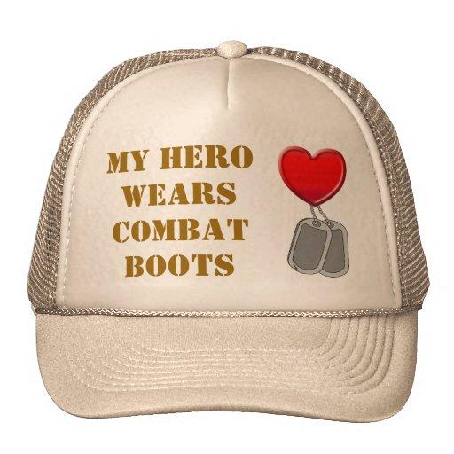 My Hero Wears Combat Boots Mesh Hats