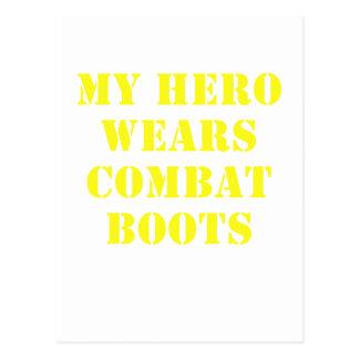 My Hero Wears Combat Boots Postcard