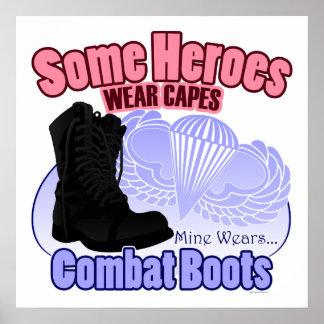 My Hero Wears Combat Boots Poster